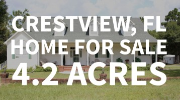 Crestview FL Home For Sale On 4.2 Acres With 306 Feet Of Waterfront!