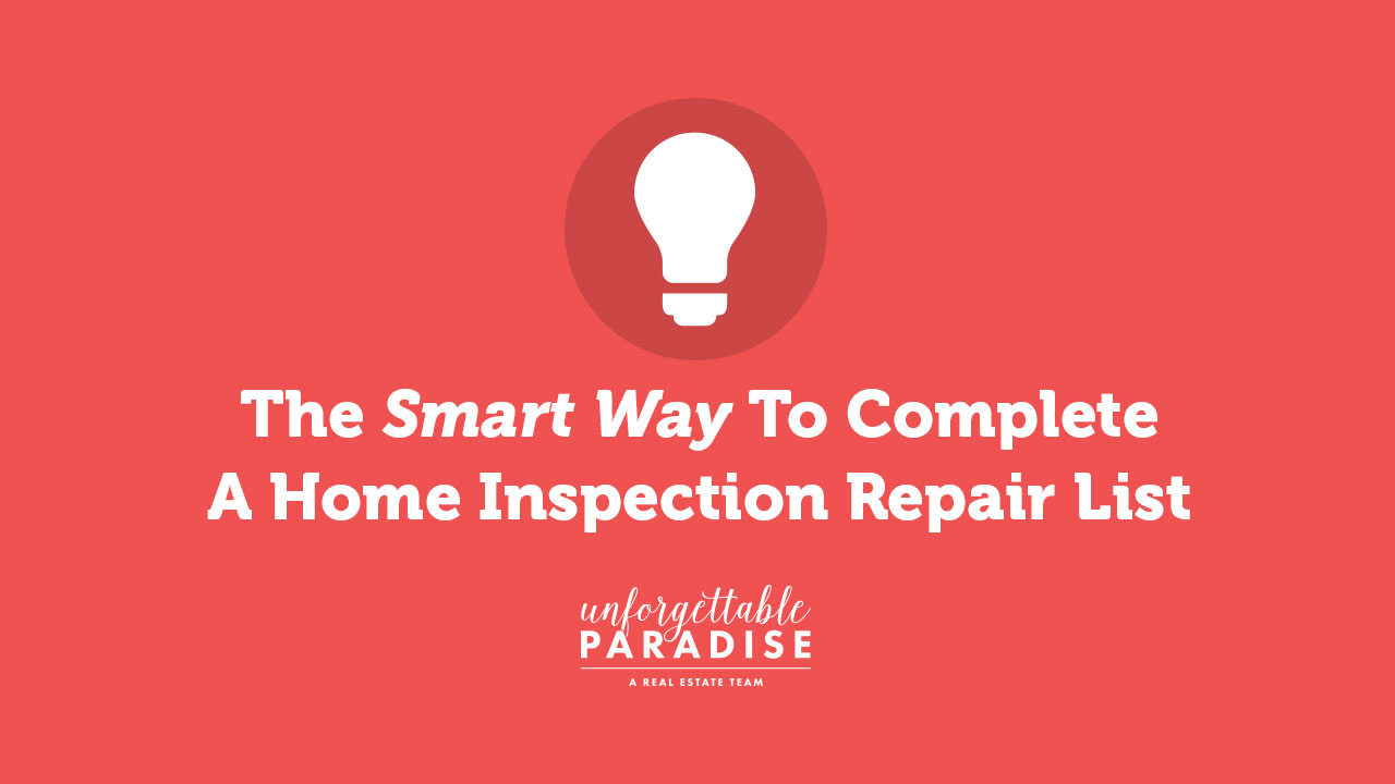 home inspection repair list tips